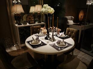 ,80平,4万,欧式,两居,餐厅,黑白,