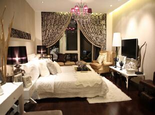 ,80平,4万,欧式,两居,卧室,黄色,