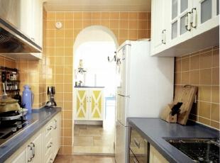 ,130平,5万,地中海,三居,厨房,黄色,