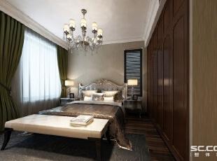 ,235平,42万,美式,别墅,卧室,原木色,