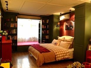 ,52平,3万,田园,两居,卧室,原木色,