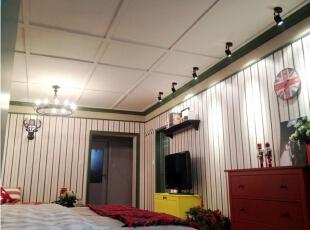 ,52平,3万,田园,两居,卧室,白色,