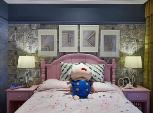 ,156平,223万,新古典,四居,卧室,粉色,