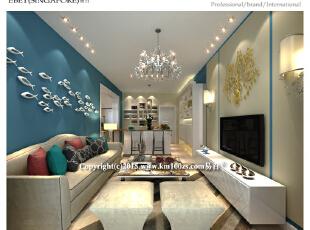 ,85平,25万,现代,两居,客厅,黄色,