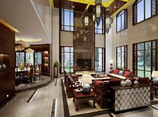 ,350.0平,190.0万,中式,别墅,客厅,原木色,黄色,