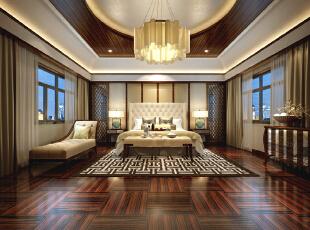 ,350.0平,190.0万,中式,别墅,卧室,原木色,
