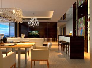 ,200平,0万,现代,三居,餐厅,黄色,