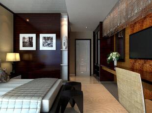 ,200平,0万,现代,三居,卧室,原木色,
