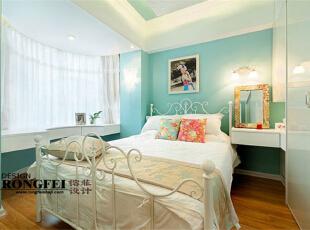,60平,12万,韩式,一居,卧室,现代,蓝色,田园,