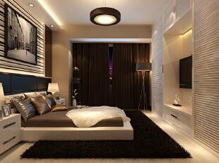 卧室墙头背景选用黑色玻璃,简约中透漏着时尚。在窗帘的选择上,选用咖啡色窗帘,温馨舒适,质感十足。卧室悬挂的画更突出了整个空间时尚的感觉,家具选择方面以白色简约的家具为主,与整体色彩完美融合,简约时尚范十足。,142平,12万,简约,三居,卧室,黄色,