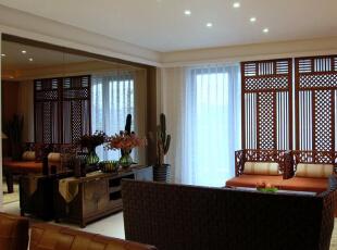 ,150平,25万,中式,三居,客厅,原木色,
