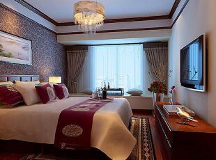 ,102平,9万,中式,两居,卧室,原木色,