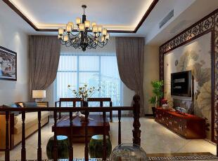,450平,55万,中式,别墅,客厅,黄色,
