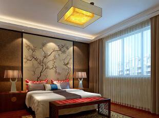 ,450平,55万,中式,别墅,卧室,原木色,
