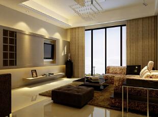 ,65平,285万,现代,一居,客厅,黄色,