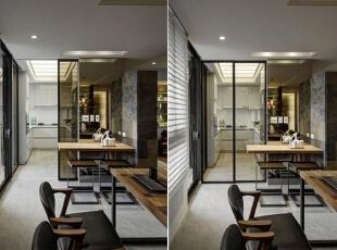 切齐延伸楼面的窗边平台设计,延揽日光进入黑铁雷射雕刻粉烤墙面内,增添卧房更多的光影变化性。,198平,30万,现代,别墅,
