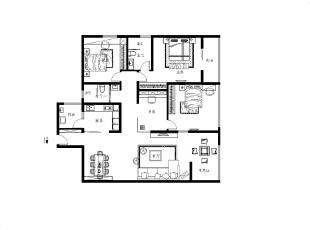 ,142平,15万,现代,三居,玄关,客厅,餐厅,卧室,厨房,书房,儿童房,卫生间,阳台,