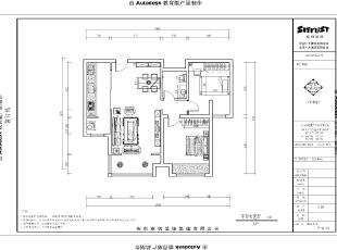 【南昌实创整体家装】田园风格平面图参考案例,87平,10万,田园,两居,