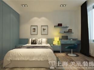 郑州昌建誉峰三室两厅装修样板间-次卧,128平,10万,欧式,三居,