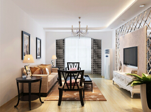 ,80平,7万,现代,两居,客厅,