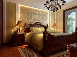,120平,11万,欧式,三居,卧室,红白,