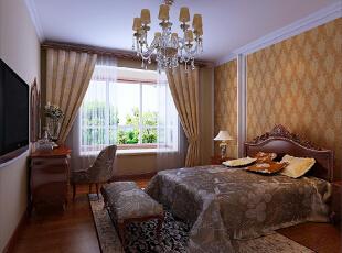 ,120平,11万,欧式,三居,卧室,黄白,