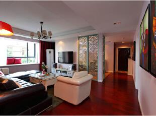 ,90平,新古典,三居,客厅,白色,