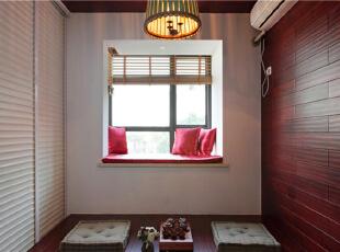 ,90平,新古典,三居,卧室,红白,