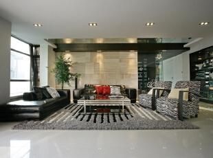 客厅设计:曲线和非对称线条构成,自然界各种优美、波状的形体图案 等,体现再墙面、栏杆、窗棂和家具等装饰上。线条有的柔美雅致,有的遒劲而富于节奏感,整个立体形式都与有条不紊的、有节奏的曲线融为一体。,270平,30万,现代,三居,客厅,黑白,