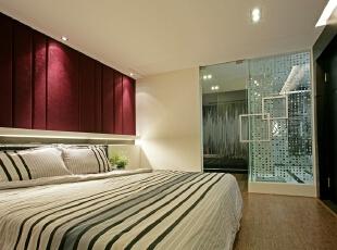 ,270平,30万,现代,三居,卧室,红色,白色,