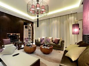 ,200平,20万,中式,四居,客厅,白色,