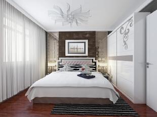 ,89平,9万,两居,现代,卧室,白色,