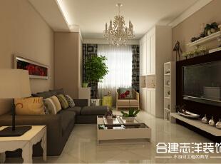 ,84平,9万,两居,现代,客厅,白色,