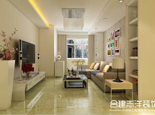 ,85平,9万,两居,现代,客厅,白色,