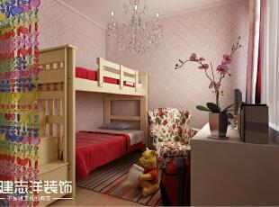 ,85平,9万,两居,现代,卧室,粉红色,