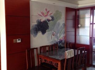 ,150平,15万,中式,三居,餐厅,原木色,
