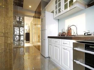 ,135平,8万,现代,三居,厨房,白色,