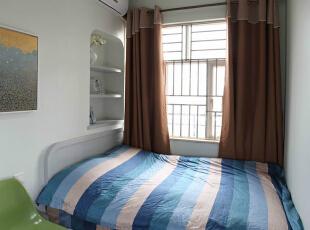,67平,3万,简约,两居,卧室,蓝色,