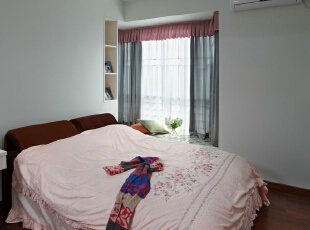 ,67平,3万,简约,两居,卧室,粉红色,