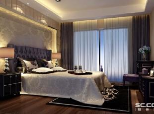 """现代简约风格设计定位:家是心灵的港湾。随着人们在旅游中感受到简约的魅力,""""简约但并不简单的装饰风格""""。当疲惫的身心对家的依恋越发强烈,人们想要的是轻松、自由的环境,""""现代简约风格""""自然就成为家居设计的一种风尚。,146平,21万,现代,三居,卧室,"""
