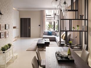 客厅:客厅很大,菱形的背景墙和吊顶地毯的搭配使整体看上去不显空旷,很有家庭的氛围,175平,20万,现代,四居,客厅,