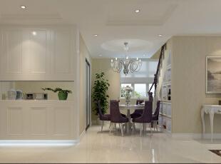 餐桌的色调主要是和客厅的色调进行一个呼应,吊顶的设计和餐桌主要是一个上下的呼应,在美观的同时也有一份功能需求。,15万,欧式,两居,餐厅,白色,