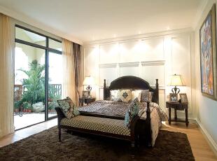 北京紫禁尚品国际装饰—次卧 这个卧室主要是给老人住的,所以有点像中式的搭配 但主要以温馨为主 暖色的灯光 深色的床 中式的配饰搭配,137平,36万,田园,三居,卧室,黑白,黄色,绿色,地中海,