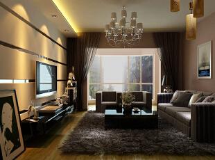 本设计是为一四口之家设计的现代简约风格,但根据男主人常住此居室的要求及家庭每个成员的喜好,以男主人为主的居住要求,设计中简约而不简单的造型设计,使整个空间宽阔却不单薄——稳重、大气、简洁。设计中局部烤漆玻璃材质的运用对于简约风格的点缀恰到好处,让整个空间有了一定的灵动感,温馨而不失大气感。,113平,13万,简约,三居,客厅,黑白,