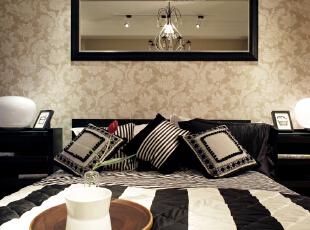,160平,10万,现代,四居,卧室,黑白,