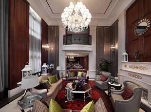 ,330平,70万,欧式,别墅,客厅,原木色,