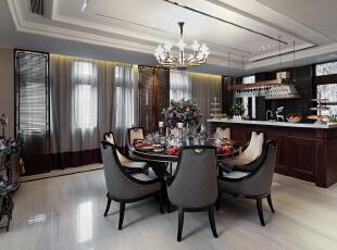 ,330平,70万,欧式,别墅,餐厅,白色,