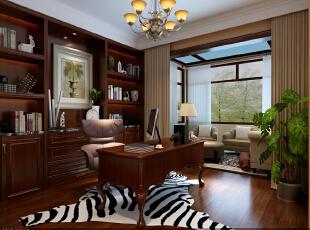 ,256平,40万,美式,别墅,书房,白色,