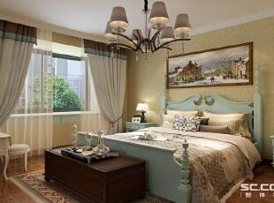 地面采用木地板,墙面搭配暖色机理硅藻泥……,89平,7万,地中海,两居,