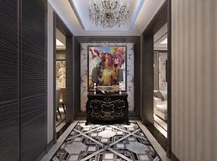 ,120平,8万,新古典,三居,客厅,黑白,